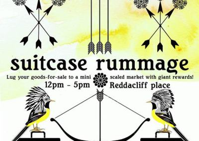 Suitcase Rummage Poster Art, by Belinda Suzette